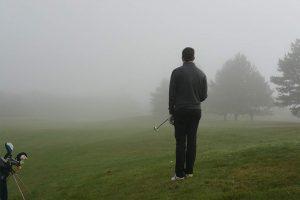 Matthieu dans le brouillard à Montgriffon